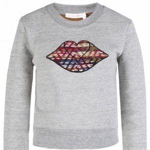 SEE by Chloe, LIPS Sweatshirt, Small